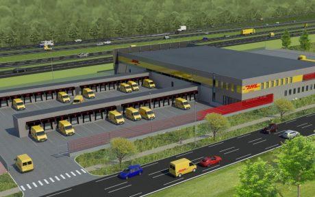 Realisatie van DHL Express Service Centers
