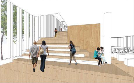 Catwalk-constructie voor nieuwbouw bibliotheek in Deventer