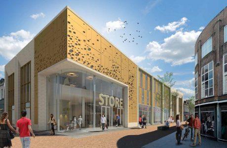 Nieuwbouw winkel Kalanderstraat Enschede