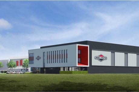 Eindfase bouw Europees distributiecentrum Briggs & Stratton Nijmegen