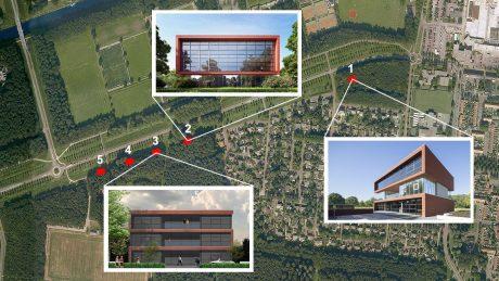 Realisatie luxe kantoorvilla's in Dronten