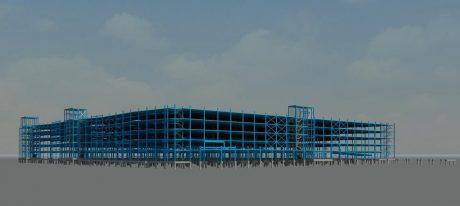 Ruim twee miljoen kilo staal in parkeergarage Roermond