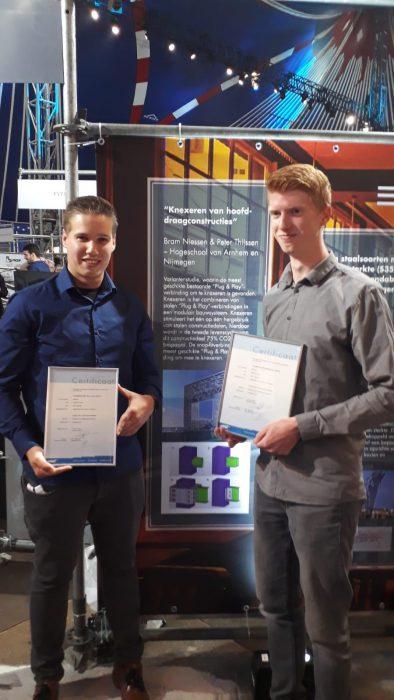 Bram Niessen wint Studenten Staalprijs 2018