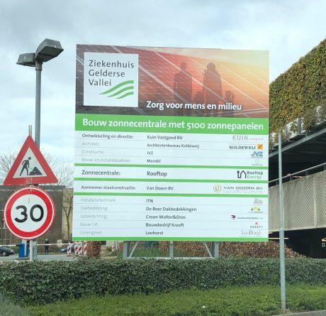 Bouw zonnecentrale Ziekenhuis Gelderse Vallei binnenkort van start!