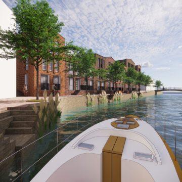 Stadswoningen aan het water in Doetinchem